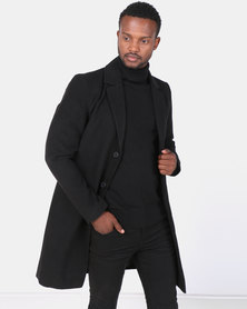 Brave Soul Formal Single Breasted Coat Black