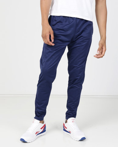 Brave Soul Tricot Jogger With Side Stripe Cobalt