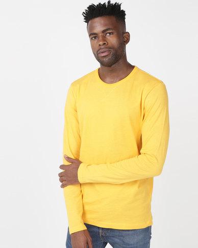 18f477c83283 Brave Soul Long Sleeve Crew Neck T-Shirt Mustard | Zando
