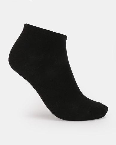 Brave Soul Lolo 3 Pack Plain Trainer Socks Black