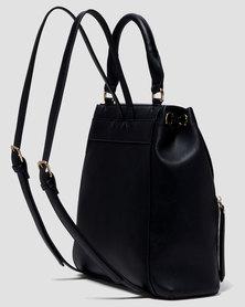 Forever New Emma Foldover Backpack Black