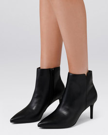 Forever New Blair Pointed Mid Heel Boot Black