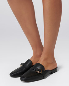 Forever New Fiona Loafer Mule Black