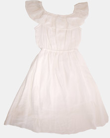 Razberry Kids Phoenix Milk crinkle Dipped Back dress