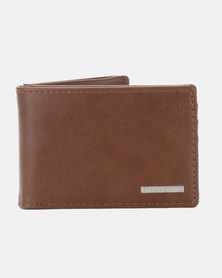 Billabong Revival Slim Line Wallet Brown