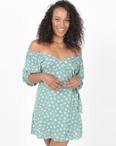 Billabong Best Dressed Dress Island Green