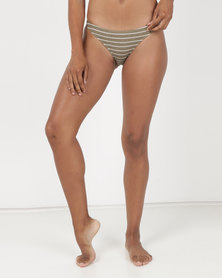 Billabong Hula Stripe Tropic Bikini Bottom Aloe