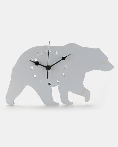 Royal T Bear Wall Clock Grey