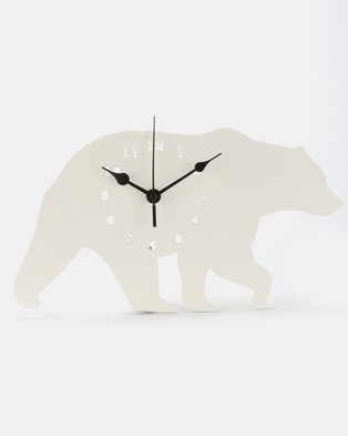 Royal T Bear Wall Clock White