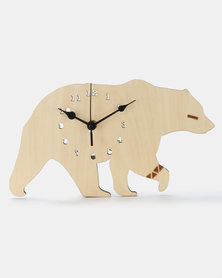 Royal T Bear Wall Clock Neutrals