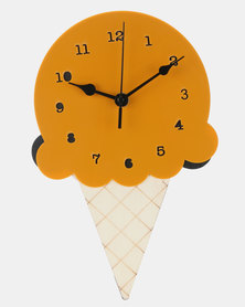 Royal T Wooden Ice Cream Wall Clock Orange