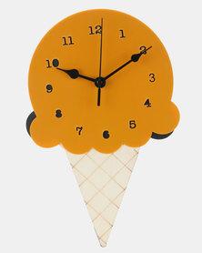 Royal T Wooden Ice Cream Wall Clock Orange