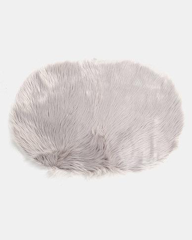 Royal T Faux Sheepskin Carpet Rug Grey