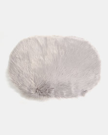 Royal T Faux Sheepskin Carpet Rug Grey