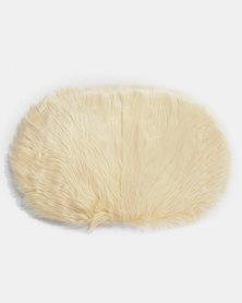 Royal T Faux Sheepskin Carpet Rug White