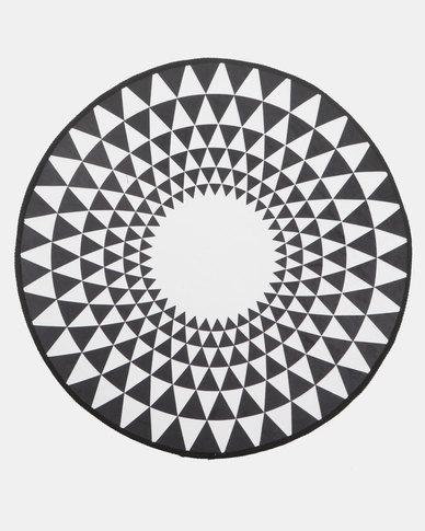 Royal T Geometric Round Carpet Multi