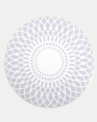 Royal T Geometric Round Carpet Multi