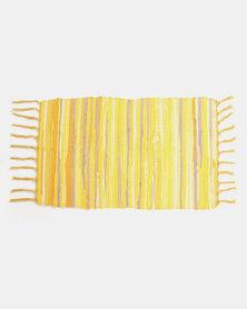 Royal T 100% Cotton Rug Yellow