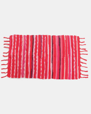 Royal T 100% Cotton Rug Red