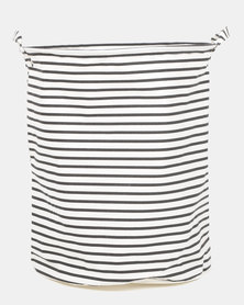 Royal T Striped Laundry Basket Black/White