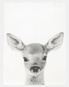 Royal T Deer Wall Art Black And White