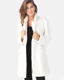 AX Paris Teddy Coat Cream