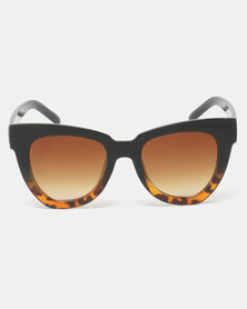 Utopia Amber Sunglasses Black Tortoise Shell