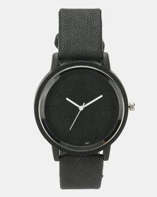 Utopia Classic PU Watch Black