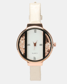 Utopia Shimmer PU Watch Nude