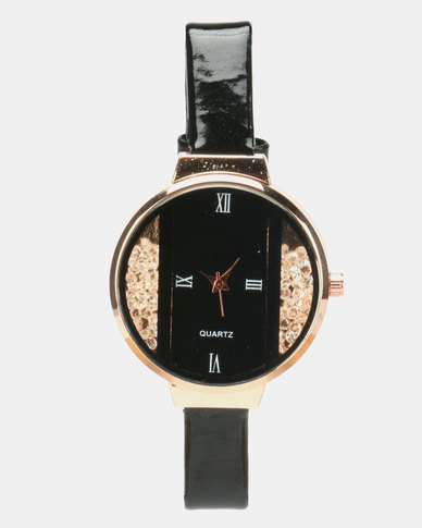 Utopia Shimmer PU Watch Black