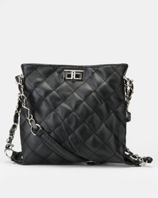 Utopia Quilted Crossbody Bag Black