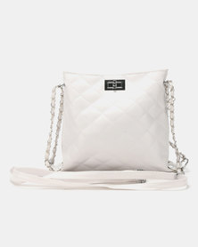 Utopia Quilted Crossbody Bag White