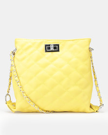Utopia Quilted Crossbody Bag Yellow