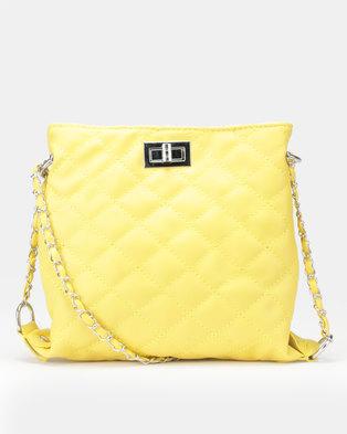 Utopia Quilted Crossbody Bag Yellow