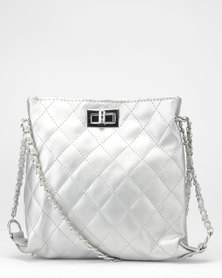 Utopia Quilted Crossbody Bag Silver