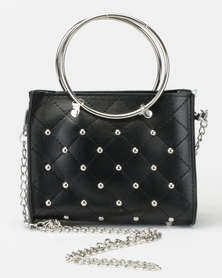 Utopia Studded Mini Crossbody Bag Black