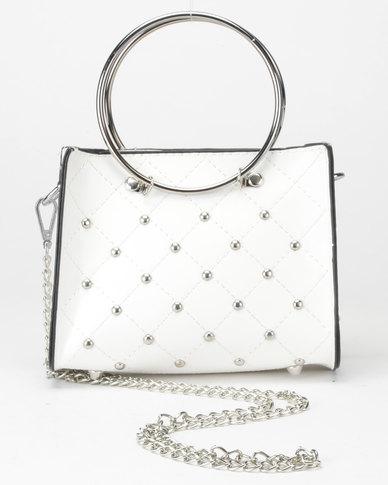 Utopia Studded Mini Crossbody Bag White