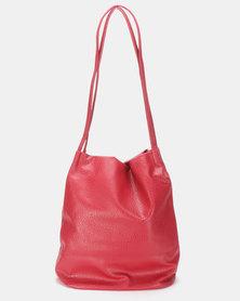 Utopia Sloughy Handbag Burgundy