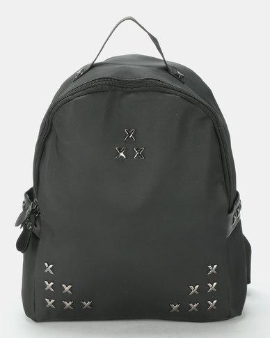 Utopia Studded Backpack Black