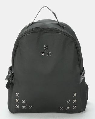8cd928ee9ea3e Utopia Studded Backpack Black