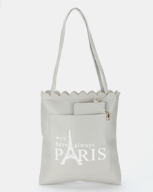 Utopia Paris Shopper Bag Grey