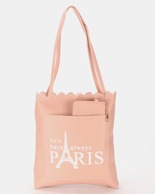 Utopia Paris Shopper Bag Soft Pink