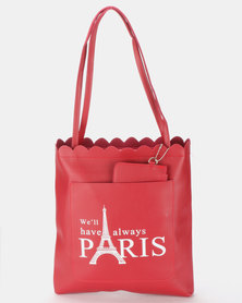 Utopia Paris Shopper Bag Dark Red