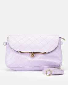 Utopia Quilt Stitch Crossbody Bag Soft Purple