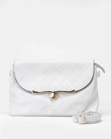 Utopia Quilt Stitch Crossbody Bag Grey
