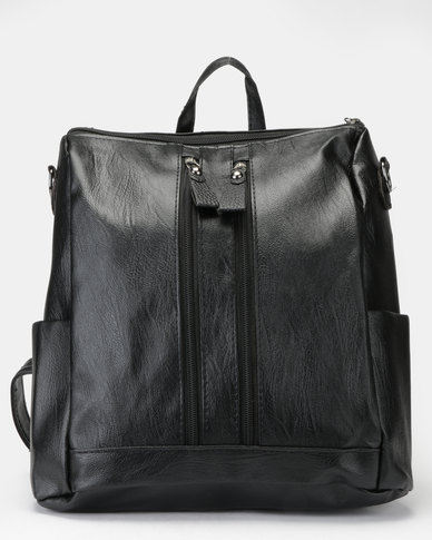 Utopia Top Handle Backpack Black