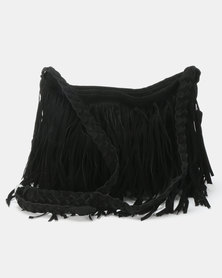 Utopia Tassle Crossbody Bag Black