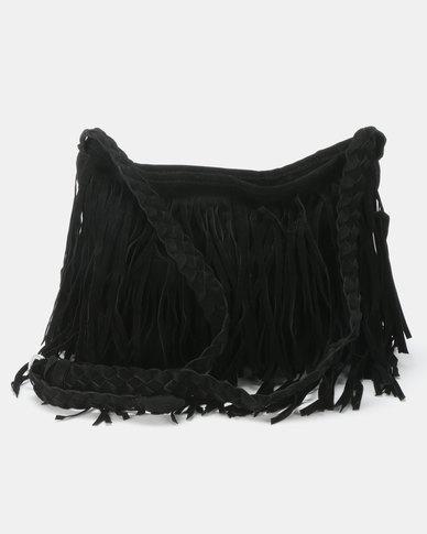 Utopia Tassle Crossbody Bag Black