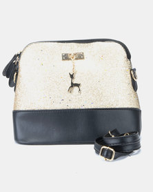 Utopia Shimmer Mini Crossbody Bag Gold