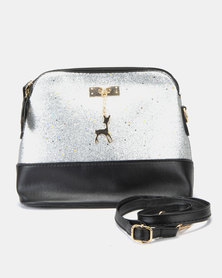 Utopia Shimmer Mini Crossbody Bag Silver